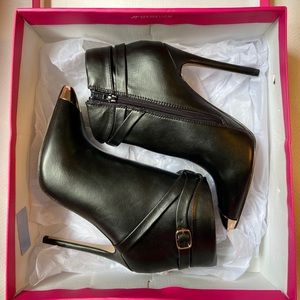 New Black Booties with Gold details